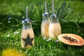 Die Kraft der Enzyme: Papaya-Mango-Ananas-Smoothie mit Kefir