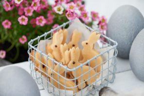 Rabbit-Cookies mit Mandeln, Marzipan und Vanille