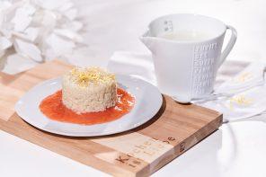 Vanille-Zitronen-Milchreis mit Rhabarber-Kompott Foto: Maike Helbig Foodstyling: Bettina Bergwelt / www.myotherstories.de