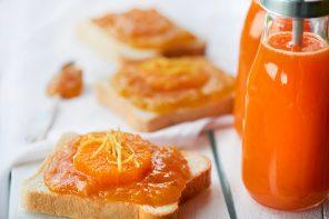 Fruchtiges Frühstück – Orangen-Toast mit Zitrus-Karotten-Honig-Shake