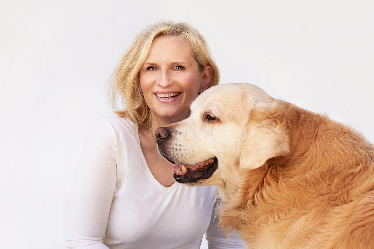 Bettina Bergwelt und Ihr Hund Spencer