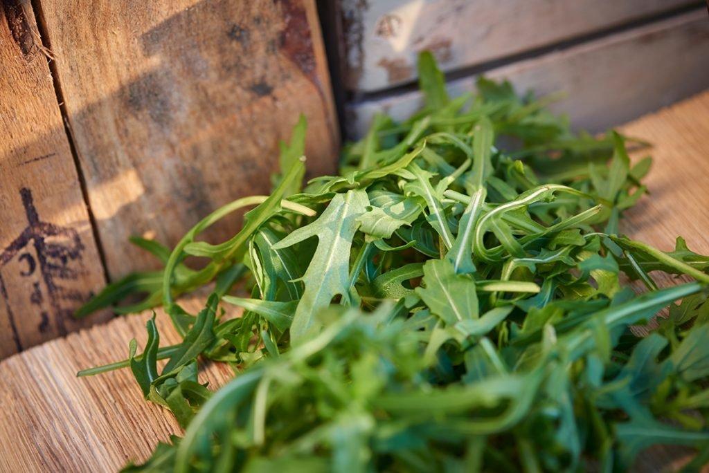 salatblaetter-fuer-rucola-birnen-salat-mit-honigmelone-nuessen-und-suessem-dressing-foto-maike-helbig-fuer-www.myotherstories.de