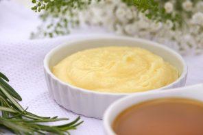 Kokos-Körperbutter mit Olivenöl und Rosmarin: Pflege und Feuchtigkeit für trockene Haut