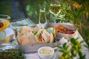 Vegetarische Sandwiches mit geröstetem Gemüse, Kräutern und Pecorino