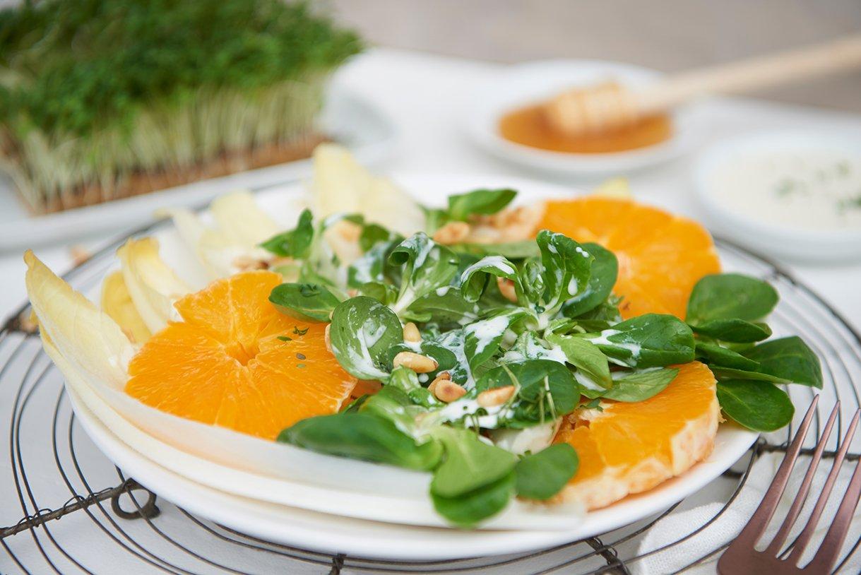 chicoree-orangen-salat-mit-fruchtdressing-und-pinienkernen-foto-maike-helbig-fuer-www.myotherstories.de